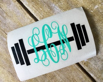 Crossfit decal / Weight lifting decal / car decal / weight lifting sticker / window decal / monogram sticker / yeti decal / monogram / decal