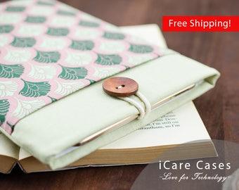 MacBook Cover MacBook Sleeve 12 Apple MacBook Sleeve MacBook Laptop Covers Case Mac Laptop Bag MacBook Damask Indian Pattern Green Pink Best