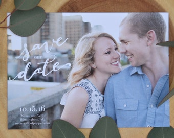 Hand-lettered Save our Date