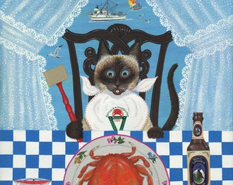 Precious gets Crab Giclee reproduction . Numbered and signed by the artist bill w. dodge