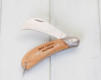 Gardeners Personalised Stainless Steel Grafting Knife