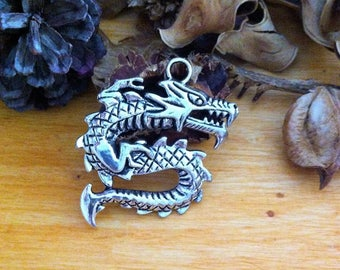 very large pendant charm in the form of Chinese dragon