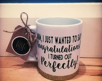 Mug| Congratulations | perfect | Mothers Day| gift | homemade | Pretty Little Pressies