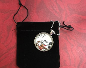 Guitar Playing Mickey Mouse Necklace