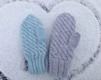 warm knitted mittens