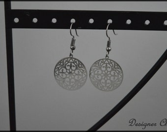 Print earrings