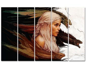 Game Of Thrones Poster Multi Panel Ready To Hang Canvas Print