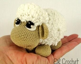 Tiny Crochet Sheep Amigurumi