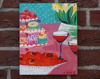 Pop-Tarts, acrylic painting, 30 / 24 cm