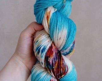 """Merino bamboo """"Milk"""" hand dyed wool"""