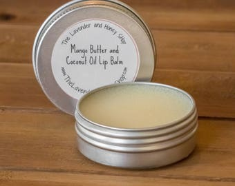 Unflavored Mango Butter and Coconut Oil Lip Balm