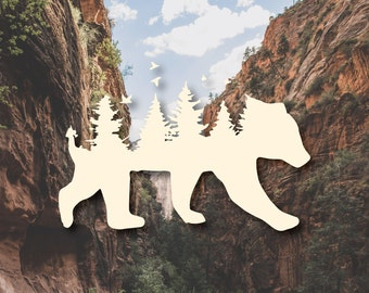 Bear Forest Vinyl Decal