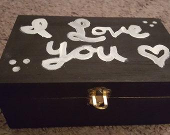 I Love You Wooden Memento Box