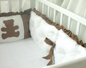 Crib bedding, bumper, linen, bedlinen set for crib