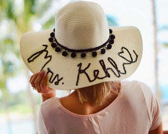 Personalized Sun Hat / Floopy Hat / Beach Hat / Name Hat / Sequin Hat / Travel Hat