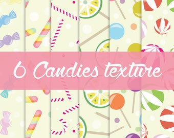 6 Candies Textures for greeting card