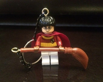 Harry Potter Quidditch Lego Minifigure Keyring
