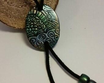 Ethnic tie necklace