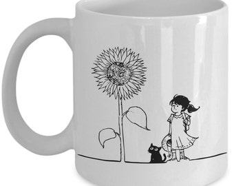 Sunflower Girl Mug