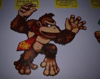 Donkey Kong in hama Beads of 85 x 85 cm