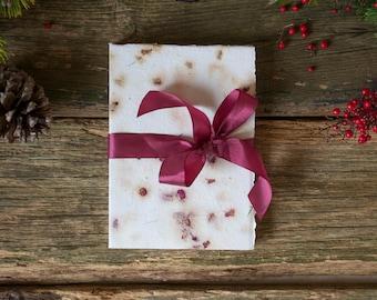 Handmade Art Journal | Wedding Guest Book | Paperback Journal | Photo Album | A5 | Red Roses