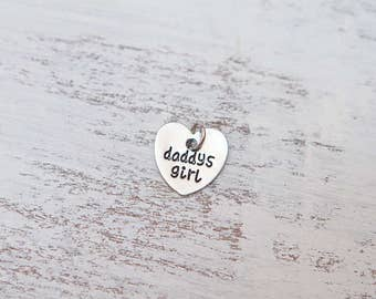 Add A Daddy's Girl Heart Charm to Your Collar or Lingerie