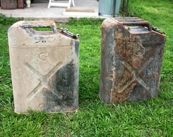 Jerry Can Vintage WWII Metal Gas Can 1940's 5 Gallon US Military  2 available