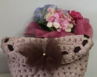 Bag pink cake