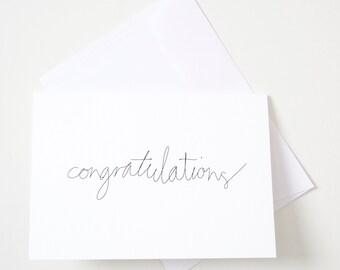 Greeting Card - Script / Congratulations