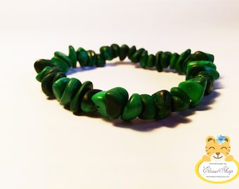 Russian exclusive bracelet made of Russian malachite