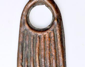 Antique Bronze Pendant from Ethiopia - Vintage African Bronze Pendant - BR831