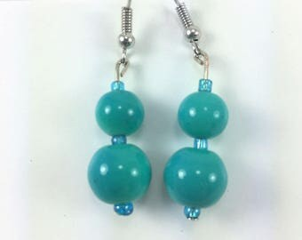 Aqua green earrigs #61