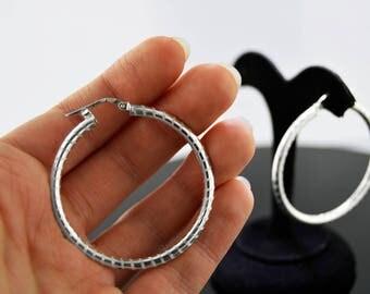 Sterling Silver Hoop Fashion Earrings