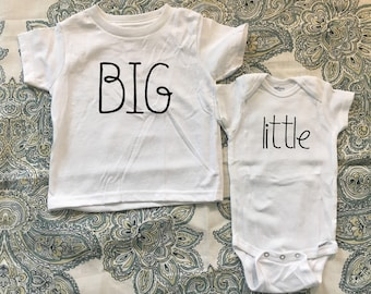 Big and Little shirts, Big brother, big sister, little brother, little sister, sibling shirts, big and little, siblings, shirts, set