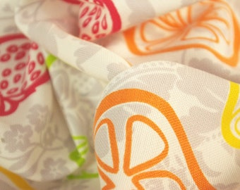 Big Fruit Print Polyester