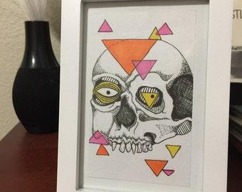 Framed 3x5 original artwork