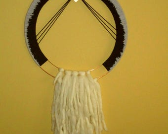 S U N R I S E       Contemporary dream catcher, wall decor, wall hanging in weave, weave, boho decoration