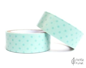 Paper tape points dots Turquoise (PR 9)