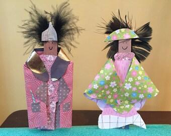 Mixed Media Paper Dolls - Featherheads Folk Art Set JGF2-07