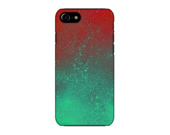Red green iphone case