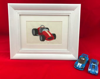 Sports car, Nursery Art, Boys room Art