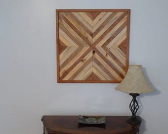 Wood Art, Reclaimed Wood Art, Pallet Wood Art  ~  X Marks the Spot