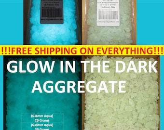UniGlow's Glow In The Dark Aggregate. (AQUA) 6-8mm