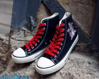 Hi Tops shoes Skull Custom Sneakers Pirates shoe Birthday gift