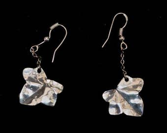 Handcrafted Silver Ivy Leaf Earrings - Unique and Gorgeous
