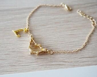 Capricorn Constellation bracelet Capricorn, Zodiac, Constellation Bracelet Birthday Gift Zodiac Jewelry bracelet gold