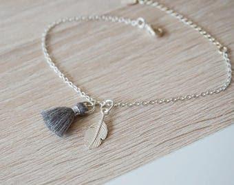 Feather tassel bracelet 925 Silver - design trend