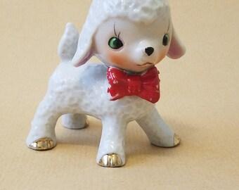Vintage  kitschy lamb
