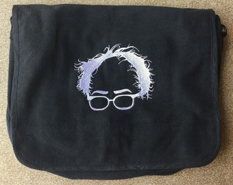Bernie Embroidered Messenger Bag (Home embroidered)