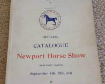 1899 Newport Horse Show Catalog